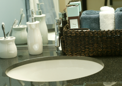 washroom sink basin with tap