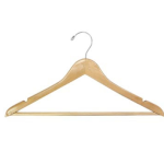 Unlimited Hotel Supply Mens Natural Executive Wood Suit Hanger
